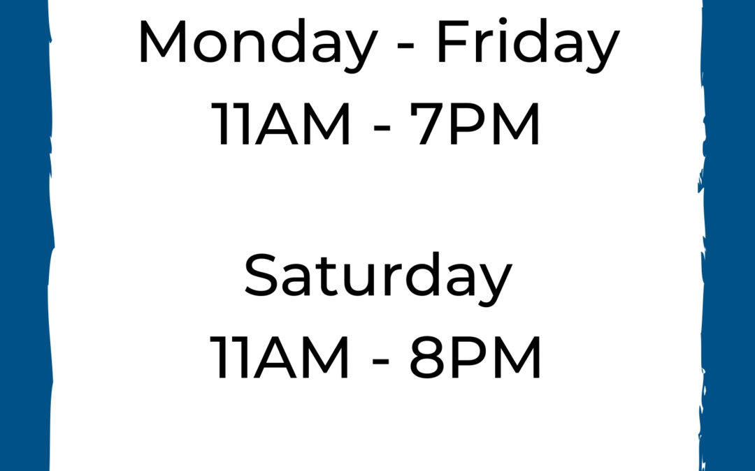 Updated Store Hours